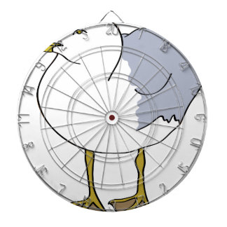 Seagull Illustration Dartboard