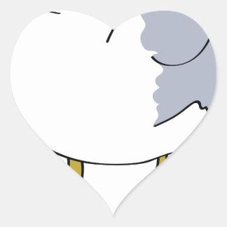 Seagull Illustration Heart Sticker
