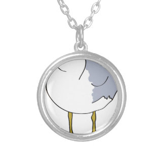 Seagull Illustration Silver Plated Necklace