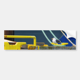 Seagull in an abstract environment bumper sticker