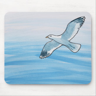 Seagull in Flight Mouse Pad