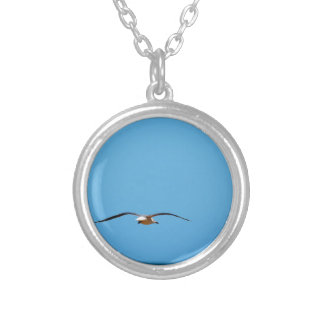 SEAGULL IN FLIGHT QUEENSLAND AUSTRALIA SILVER PLATED NECKLACE