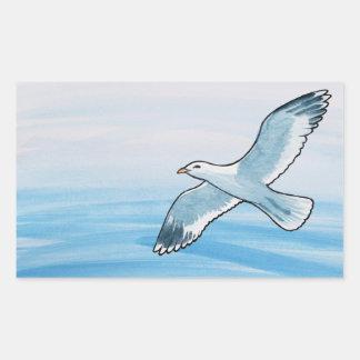 Seagull in Flight Sticker
