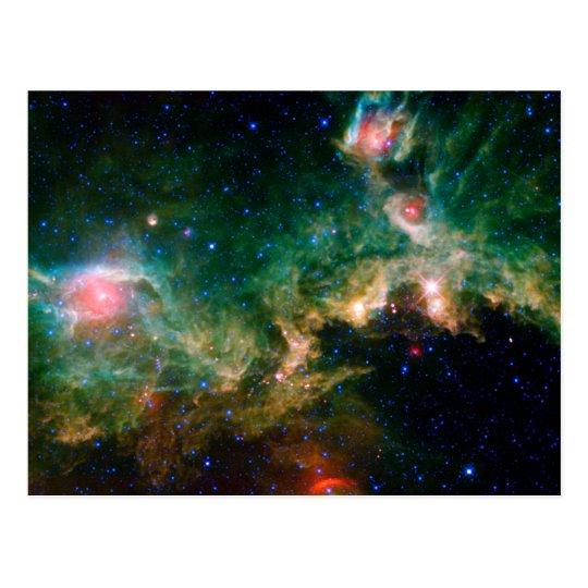 Seagull Nebula NASA Space Postcard