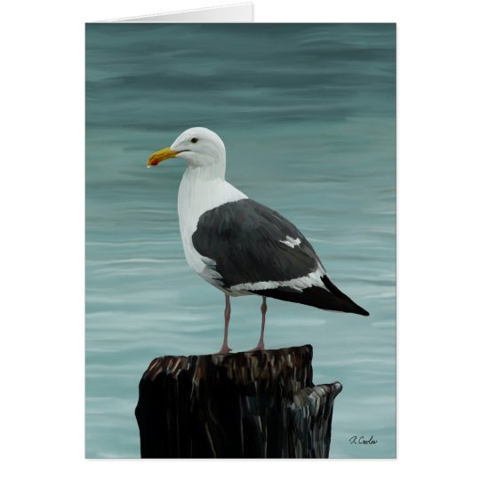 Seagull note card