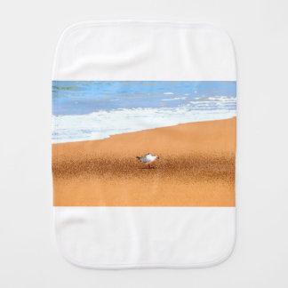 SEAGULL ON BEACH QUEENSLAND AUSTRALIA BURP CLOTH