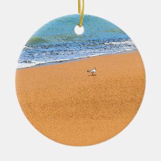 SEAGULL ON BEACH QUEENSLAND AUSTRALIA CERAMIC ORNAMENT