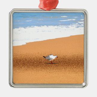 SEAGULL ON BEACH QUEENSLAND AUSTRALIA METAL ORNAMENT