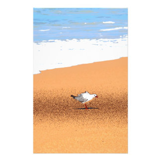 SEAGULL ON BEACH QUEENSLAND AUSTRALIA STATIONERY