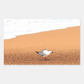 SEAGULL ON BEACH QUEENSLAND AUSTRALIA STICKER