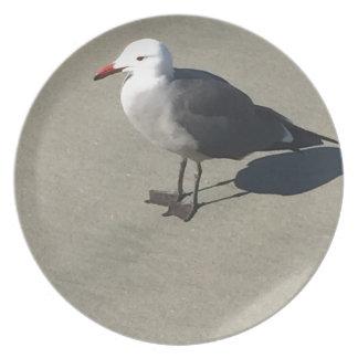 Seagull on Sandy Beach Plate