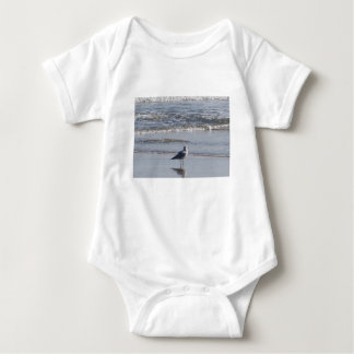 Seagull On The Beach at low tide on east coast Baby Bodysuit