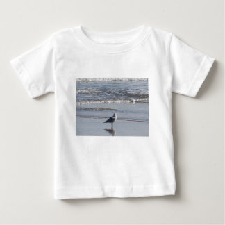 Seagull On The Beach at low tide on east coast Baby T-Shirt