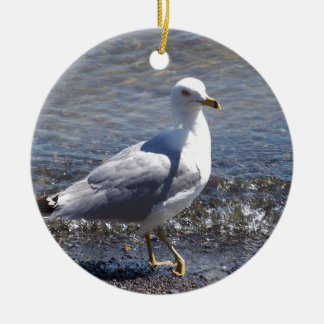 Seagull Round Ceramic Ornament