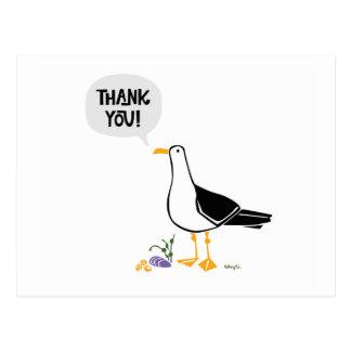 Seagull Thank You Postcard