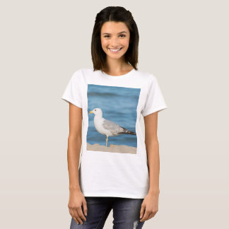 Seagull walking on the beach T-Shirt