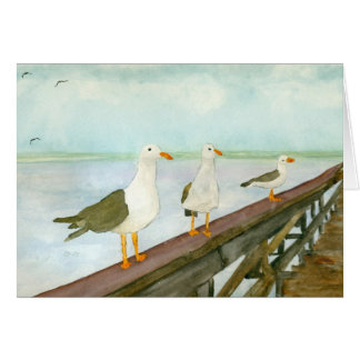 Seagull Watercolor Card