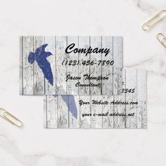 Seagull White Washed Fence Business Card