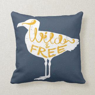 Seagull | Wild And Free Throw Pillow