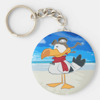 SEAGULL WITH PILOT GOGGLES KEYCHAIN
