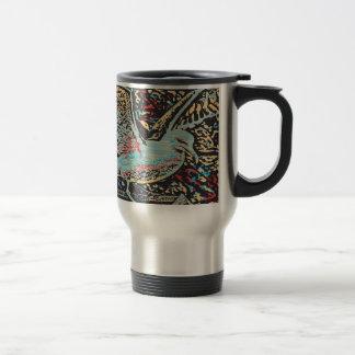 Seagull Woodcut Mug