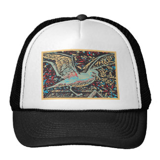 Seagull Woodcut Trucker Hat
