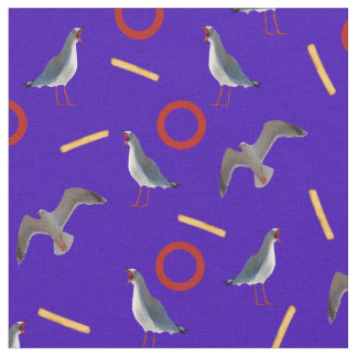 Seagulls and Fries Fabric