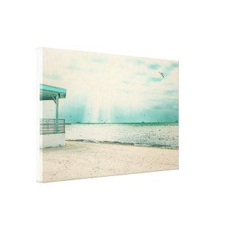 Seagulls and Gazebo at Higgs Beach Key West FL Canvas Print