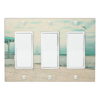 Seagulls and Gazebo at Higgs Beach Key West FL Light Switch Cover