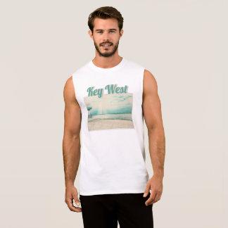 Seagulls and Gazebo at Higgs Beach Key West FL Sleeveless Shirt