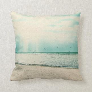 Seagulls and Gazebo at Higgs Beach Key West FL Throw Pillow