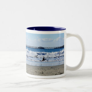 Seagulls and Pier Mug