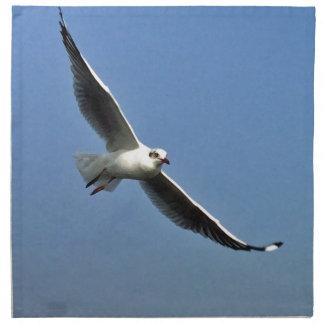 Seagulls are beautiful birds napkin