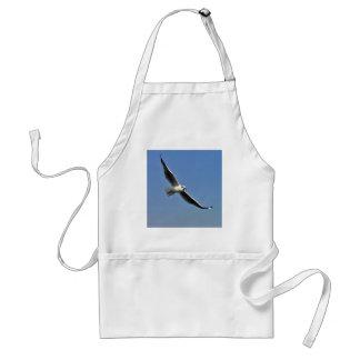 Seagulls are beautiful birds standard apron