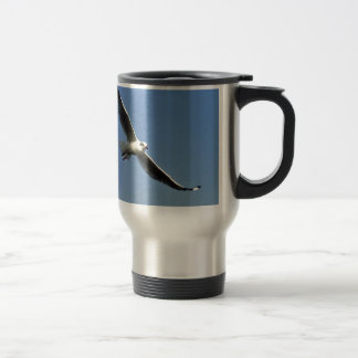 Seagulls are beautiful birds travel mug