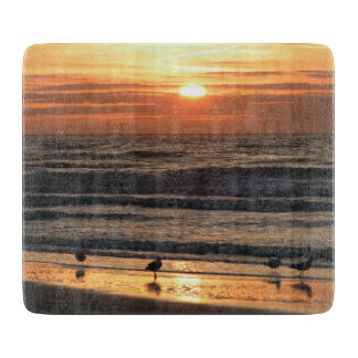 Seagulls at Sunset Cutting Board