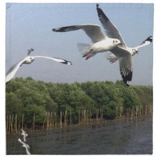 Seagulls at the beach napkin