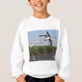 Seagulls at the beach sweatshirt