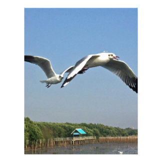 Seagulls in Flight Letterhead