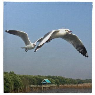 Seagulls in Flight Napkin