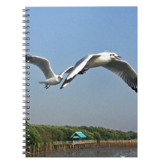 Seagulls in Flight Notebook