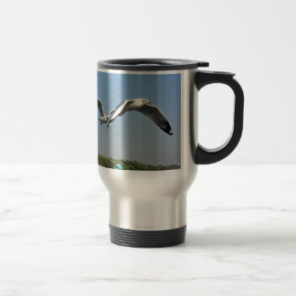 Seagulls in Flight Travel Mug