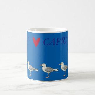 Seagulls on a blue background - Capri Coffee Mug