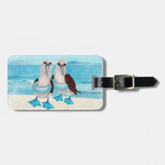 Seagulls on Beach Luggage Tag