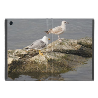 Seagulls on Rock iPad Mini Case with No Kickstand