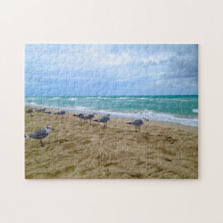 Seagulls on the Beach Puzzle