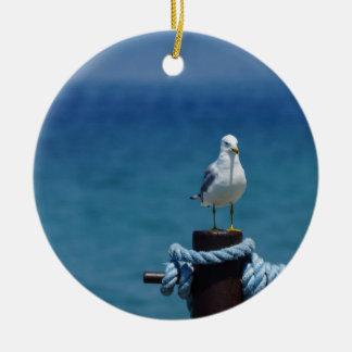 Seagulls Paradise At Mackinac Ceramic Ornament
