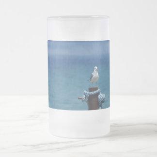 Seagulls Paradise At Mackinac Frosted Glass Beer Mug
