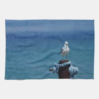 Seagulls Paradise At Mackinac Kitchen Towel