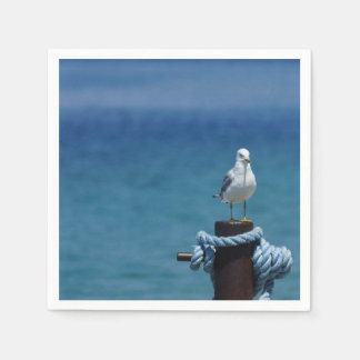 Seagulls Paradise At Mackinac Napkin